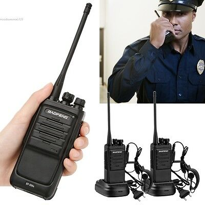 2Pcs Walkie Talkie Long Range 2 way Radio UHF 400-470MHZ 16CH BF-888S Earpiece