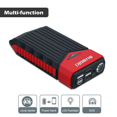 Suaoki 12000mAh Portable Auto Jump Starter Pack Booster Chargeur Batterie LED