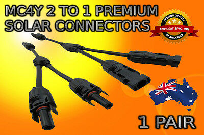 MC4 Adapter Cables Y Y2 Branch Connectors Pair F/F/M And M/M/F For Solar Panels