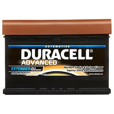 Type 156 360CCA Sealed OEM Replacement Duracell Advanced Car Battery 12V 45Ah