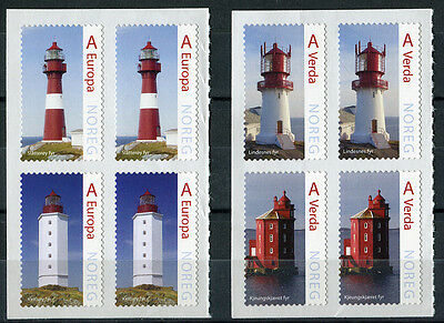 Norway 2015 Set. Blocks Lighthouses. Mint Never Hinged MNH STAMPS