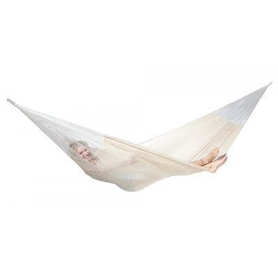 Woven Hammock Fine Flexible Cotton Outdoor Swing Travel Camping Portable Hanging