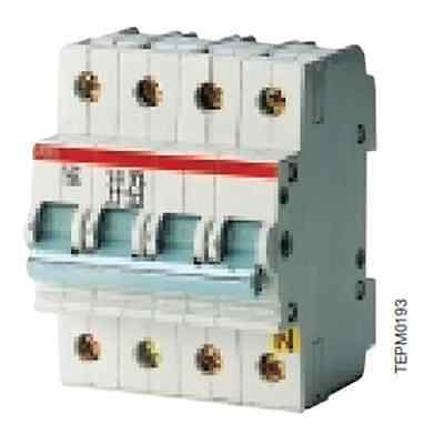 Abb Ef 934 3 E244 Interrupteur Isolateur non Automatique 16a 4p 4 Modules