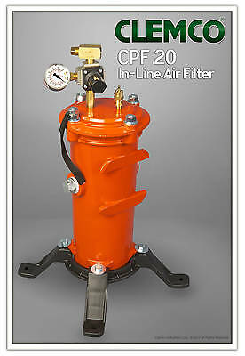 Clemco CPF 20 OSHA approved Compressed Air Filter w/ pressure regulator # 03578