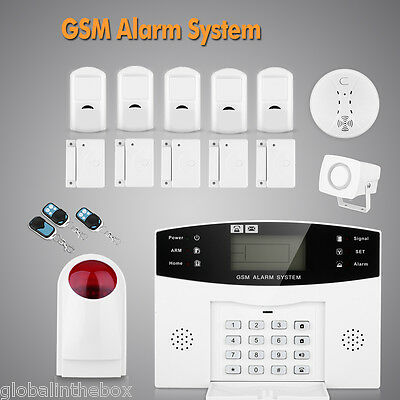 Lcd Wireless Burglar Intruder Alarm Gsm Autodial Sms Home House Office Security