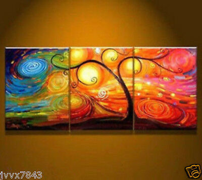 NEW Large Modern Abstract Hand-paint Art Oil Painting Wall Decor Tree No Frame