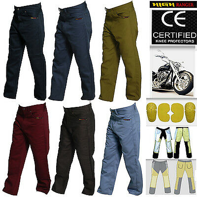 Men Motorbike Cotton Jeans Pants With Protective Lining And CE Approved Armour