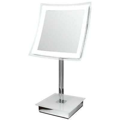 """Meridian Lighting Clearview 12"""" LED Illuminated 5x Magnifying Mirror MLMIR101"""