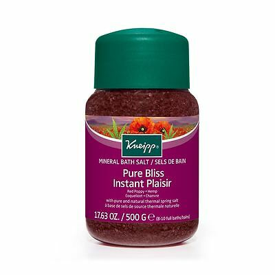 Kneipp Red Poppy & Hemp Pure Bliss Bath Salts 500g