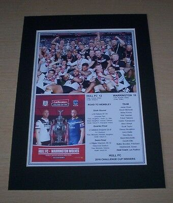 Hull FC - 2016 Rugby League Challenge Cup Winners Print Mounted To A4