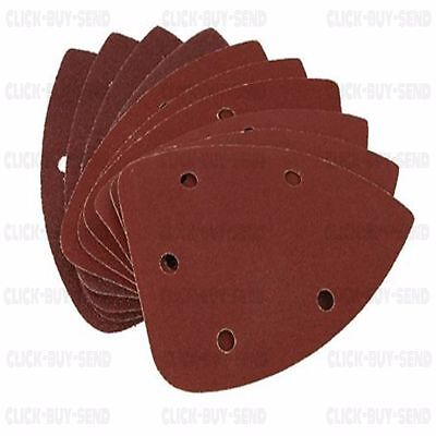 Detail Sanding Pads Pad 140 Mm Sheets Triangle Sanders P60 P80 P120 10 Pack New