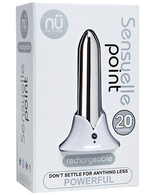 Sensuelle Point Rechargeable Bullet - Silver brand new