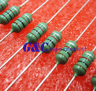 50PCS 0410 Color Ring Inductance 33uH 330K 1/2W Axial RF Choke Coil Inductor
