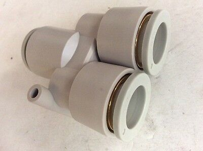 1 Height Konstance Pneumatics PLCD 100-06 Quick Coupling for Plastic Tubing 1 Wide 3//8 Tube ID White Acetal 1//4 Flow 1.15 Length