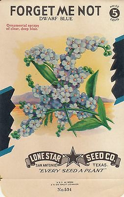 Vintage  seed packets-5¢ Dwarf Blue Forget Me Not-----58