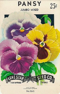 Vintage  seed packets -25¢ Pansy-----152