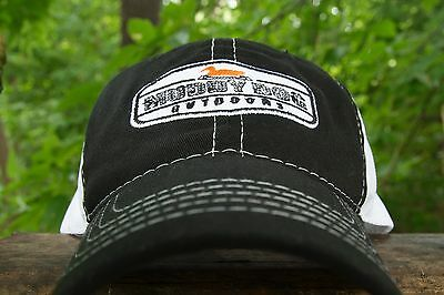 Muddy Dog Outdoors Logo Baseball Hat Mesh Cap in Black   White Duck Hunting 6bb2cab8685
