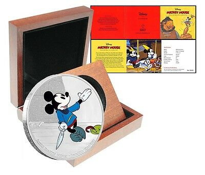 Niue Disney $2 Dollars, 1 oz Silver Proof Coin,2016,Mickey Mouse Brave Tailor,QE