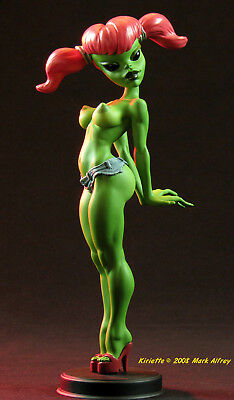 """KIRIETTE"" Sexy pin-up style sculpture ufo ALIEN GIRL statue by Mark Alfrey"