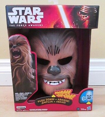 Star Wars The Force Awakens Chewbacca Electronic Mask - BRAND NEW SEALED HASBRO