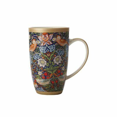 NEW Maxwell & Williams William Morris Strawberry Thief Coupe Mug 420ml Blue
