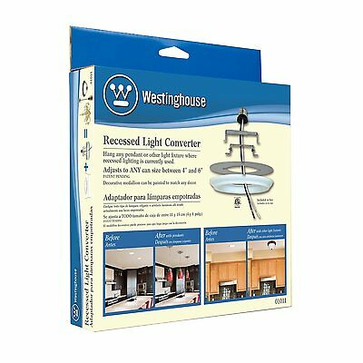 Westinghouse 0101100 Recessed Light Converter (Features medium base adapter) NEW