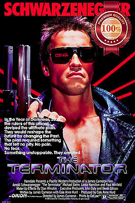 New The Terminator One 1 1984 Original Classic Retro Movie Print Premium Poster