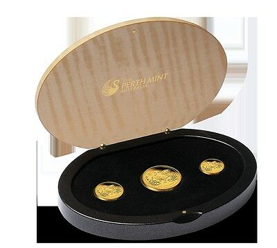 2017 Australian Lunar Series Year of the Rooster Gold Proof 3 Coin Perth Mint