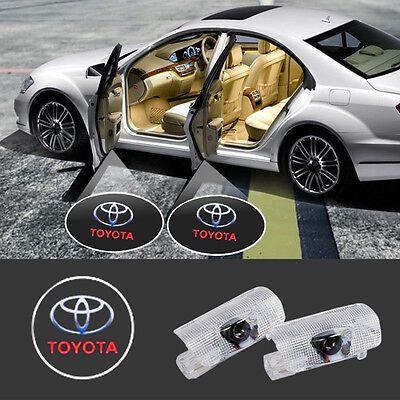 2 LED Car Door Puddle Light for Toyota Lexus 3D Laser Ghost Shadow Courtesy Lamp