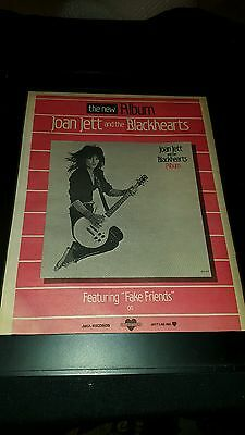 Joan Jett And The Blackhearts Fake Friends Rare  Promo Poster Ad Framed! #2