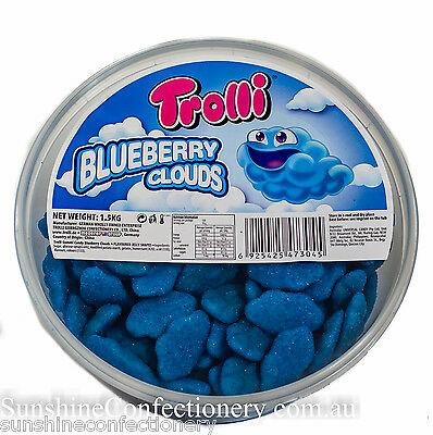 Blueberry Clouds by Trolli (approx 1.5kg) - Sweet & Sour Sweets, Lollies