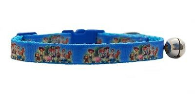 "Blue Buzz Woody    "" Toy Story""   safety kitten cat collar 3 sizes"