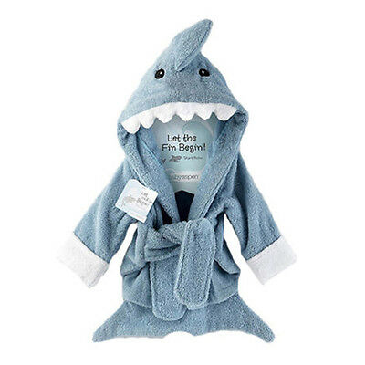 Comfort Shark Baby Boy Dressing Gown Splash Wrap Bath Hooded Towel Robe SJ6