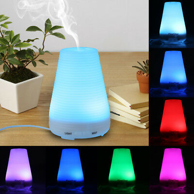 100ML LED Aroma Diffuser Ultrasonic Humidifier Air Purifier Essential Oil Mist