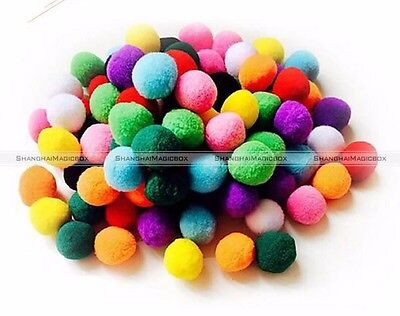 100*Furball Felt Small Pompom Balls Clothing Toy Accessory DIY Homemade Craft
