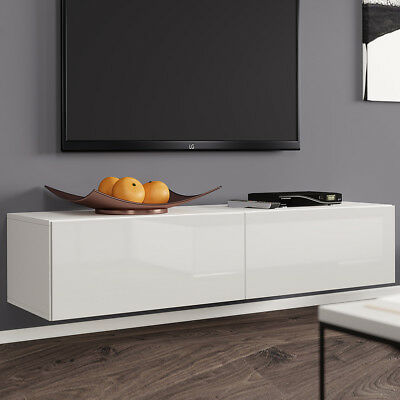 tv lowboard tenor 140 board fernsehschrank h ngeschrank hochglanz matt h ngend eur 92 00. Black Bedroom Furniture Sets. Home Design Ideas