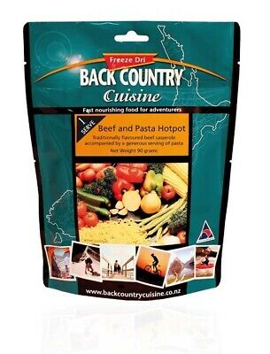 Back Country Cuisine Freeze Dried Food Beef & Pasta Hotpot 1 Serve