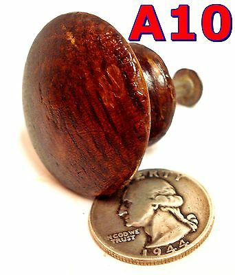 "Antique 1/4 Sawn Oak DRAWER KNOB Victorian pull 1 1/2"" Diameter Orig Finish *A10"