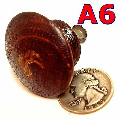 "Antique 1/4 Sawn Oak DRAWER KNOB Victorian pull 1 1/2"" Diameter Orig Finish *A6*"