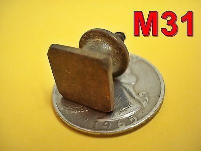 Antique Brass Bookcase Door KNOB drawer pull desk machinest chest cabinet*M31