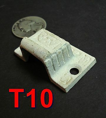 Antique Slide Catch KEEPER/Receiver cabinet/cupboard door latch cast iron *T10*
