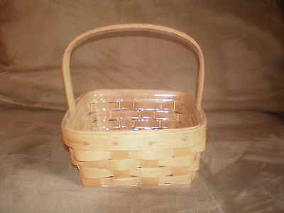 Longaberger 1988 Small Berry Basket and Protector - 1 Stationary Handle