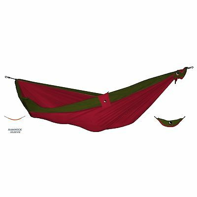 Ticket To The Moon Parachute Hammock - Express Double Burgundy/Olive + Fixing K