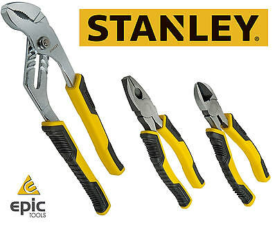Stanley Control.G Side Cutter,Slip Joint Water Pump & Combination Pliers, 074471