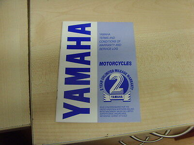 Yamaha Motorcycle Scooter Warranty And Service Log Book Blank New Old Style