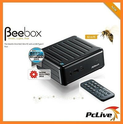 Asrock BeeBox Intel Quad Core Mini PC 8GB RAM 120GB SSD Windows 10 HDMI WIFI 4K