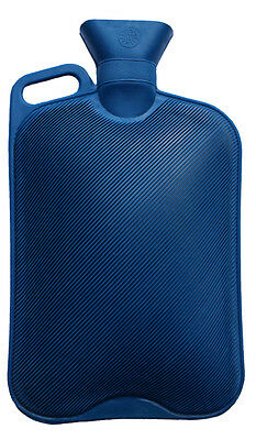 Giant 2.7 Litre Blue Hot Water Bottle with Handle