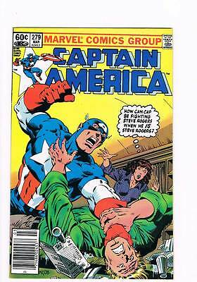 Captain America # 279 Of Monsters and Men ! grade 7.5 scarce book !!