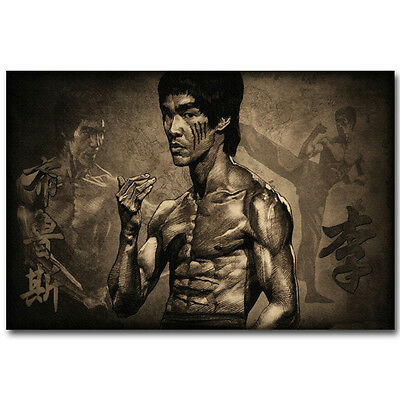 Bruce Lee Master Legend Silk Poster 12x18 24x36 inch Kung Fu Star