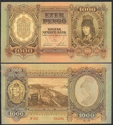 Hungary 1000 Pengo 1943 P116 Uncirculated
